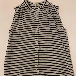 J crew striped blouse